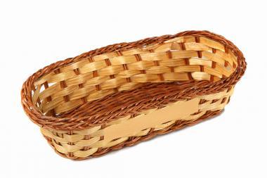 Körbchen aus Farn u. Bambus
