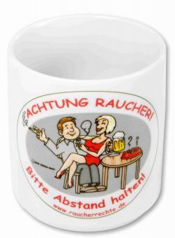 """Kaffeetasse """"Achtung Raucher"""""""