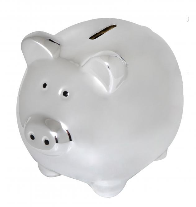 Sparschwein silber-glänzend