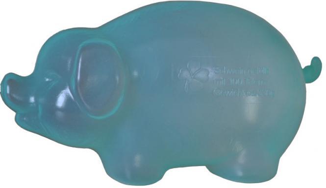 Kunststoff-Sparschwein Transparent-Grün
